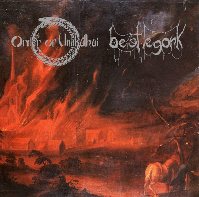 One Night Stand//Split Single// Burial Ground- Order Of Unukalhai and BeetleGork
