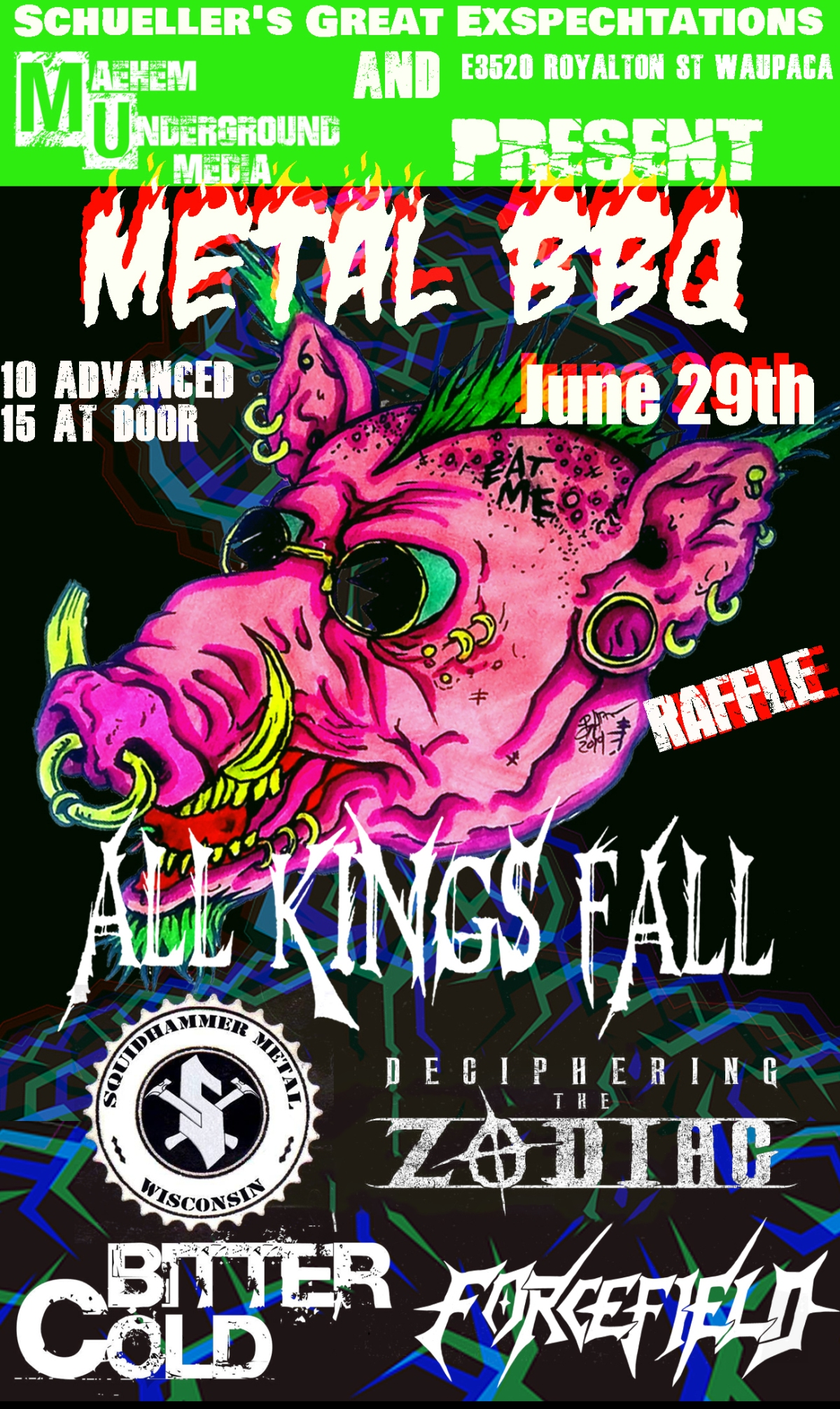 Special Event: METAL BBQ- Supporting Cause'A'