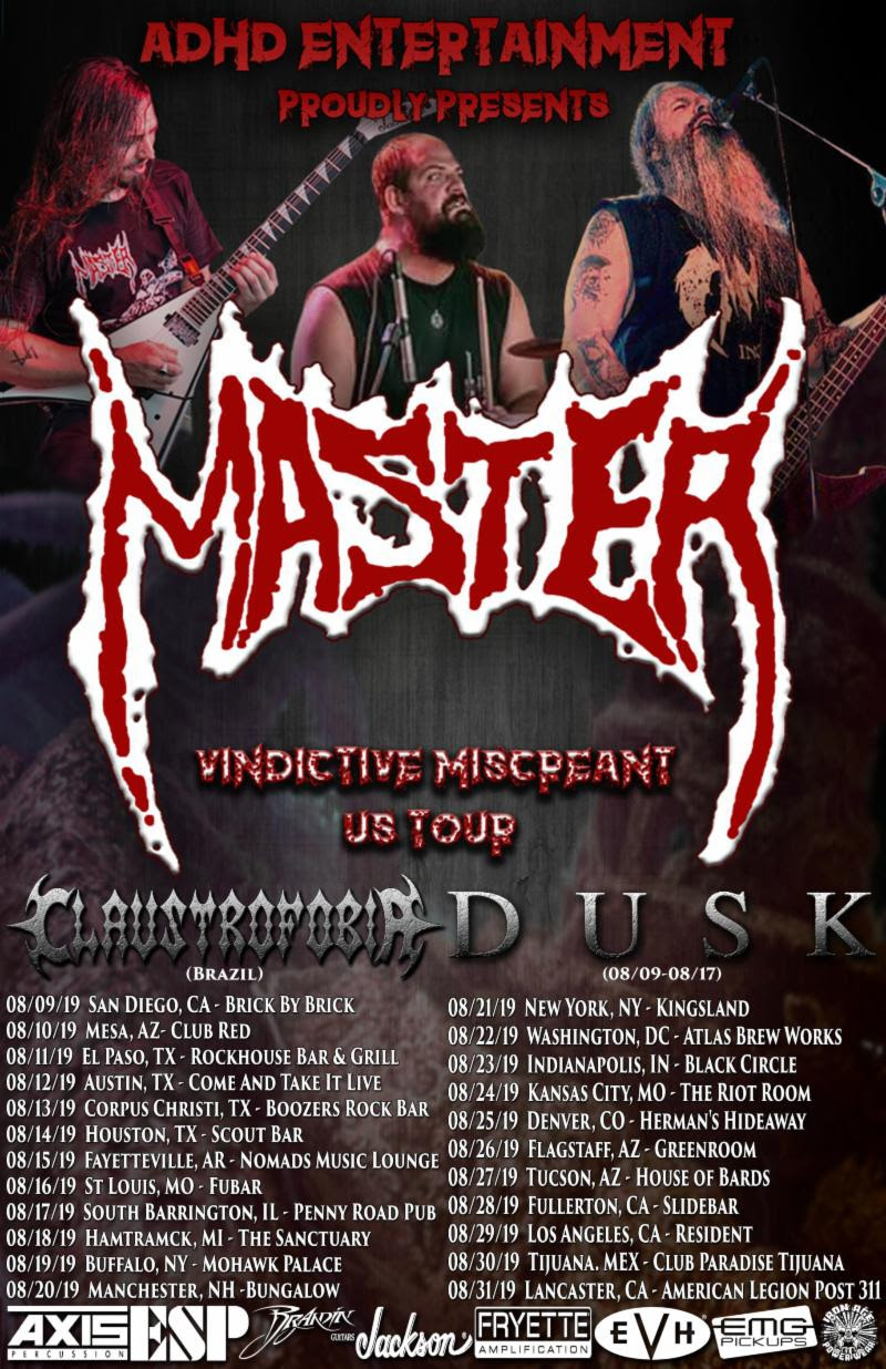 Maehem News: MASTER to Launch Vindictive Miscreant U.S. Tour