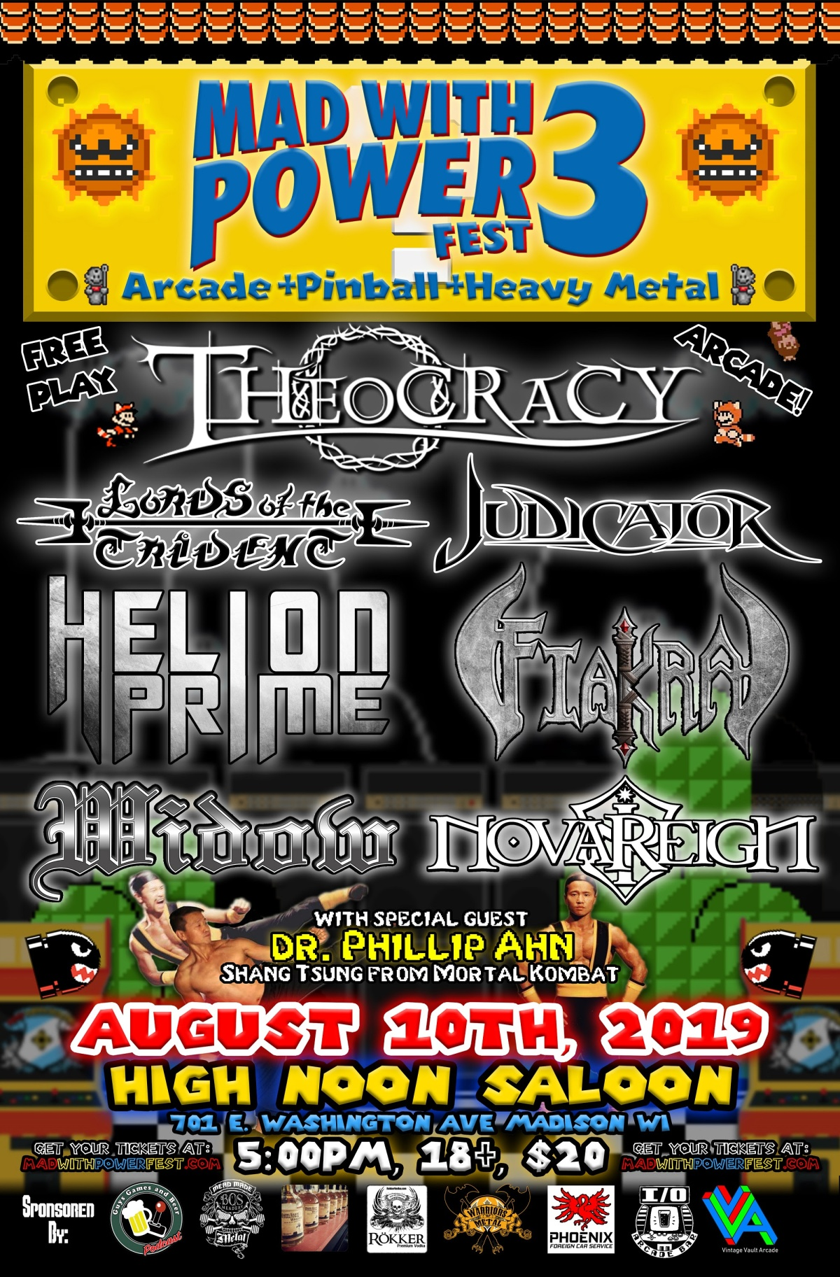 Mad With Power Fest w/ Theocracy, Lords Of The Trident, Judicator, Helion Prime+More