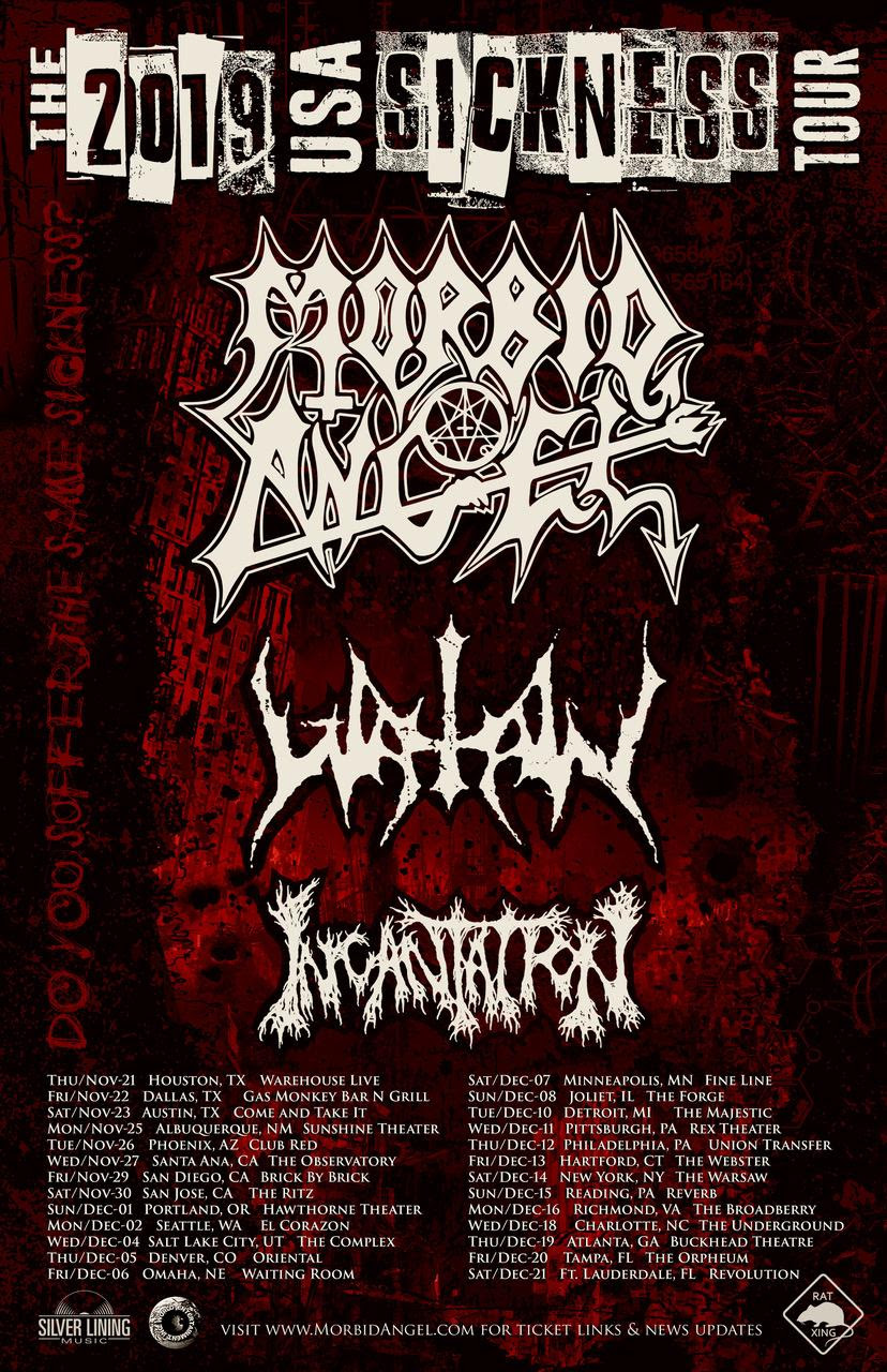 Maehem News: MORBID ANGEL Announce US Headlining Tour With Watain & Incantation