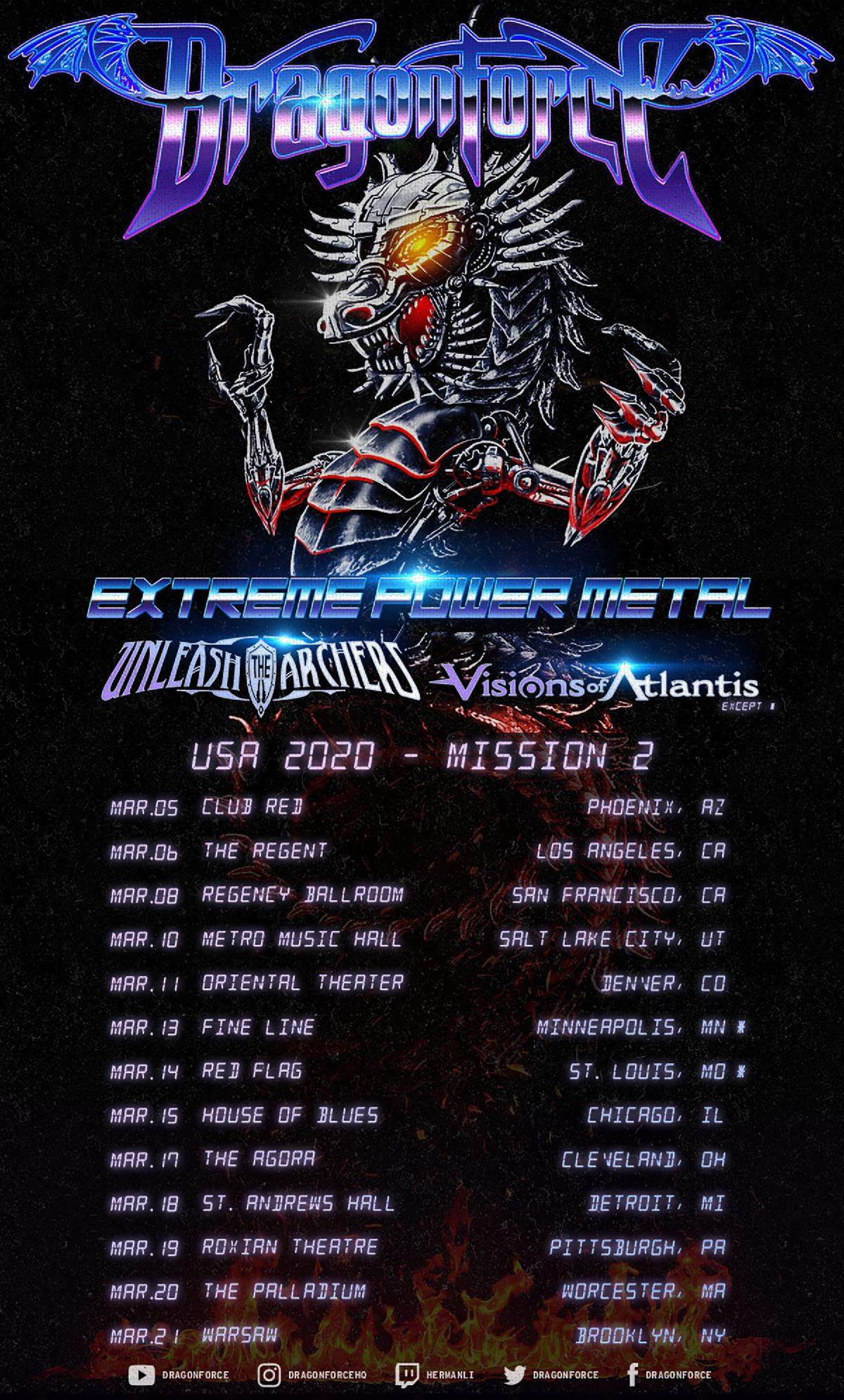Maehem News: DRAGONFORCE Announces US Headlining Tour
